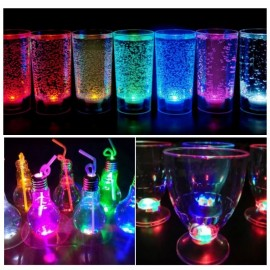 Combo Vaso Copa Y Lampara Drinky Led X10