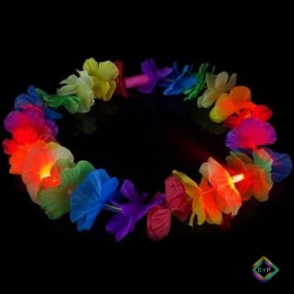 Collar flores led