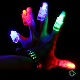 Anillos led dedos luminosos x40