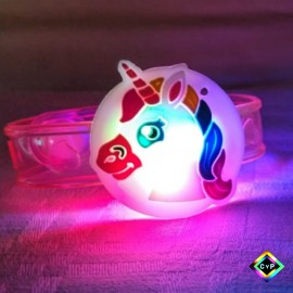 Pulsera Unicornio Goma Led Luminosa X1