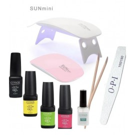 Kit Cabina Uv Led Mini Sun 6w + Esmaltes Semipermanentes Uñas